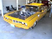 1971 Plymouth Cuda Drag Racer Yellow